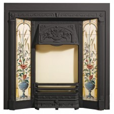 Каминная топка Stovax Poppy & Wheatsheaf Tiled Fireplace